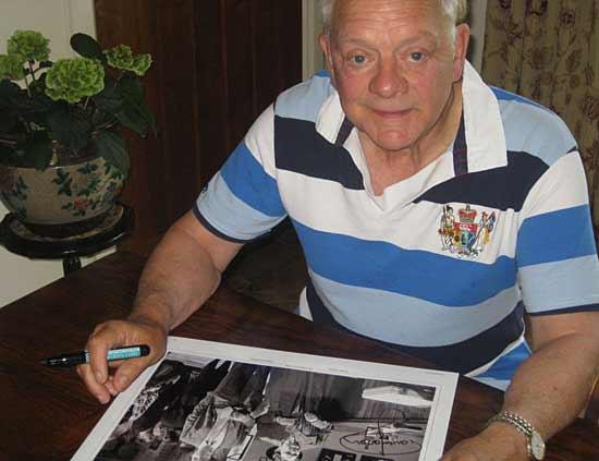 Sir David Jason signing