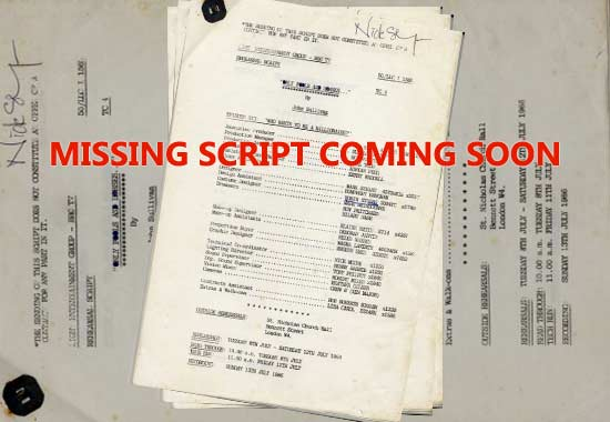 Exclusive - unseen Only Fools script coming soon - from Nick Stringer (Jumbo Mills).