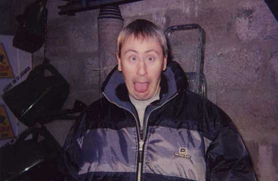 Nicholas Lyndhurst having a laugh