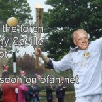 Del Boy Running the Torch