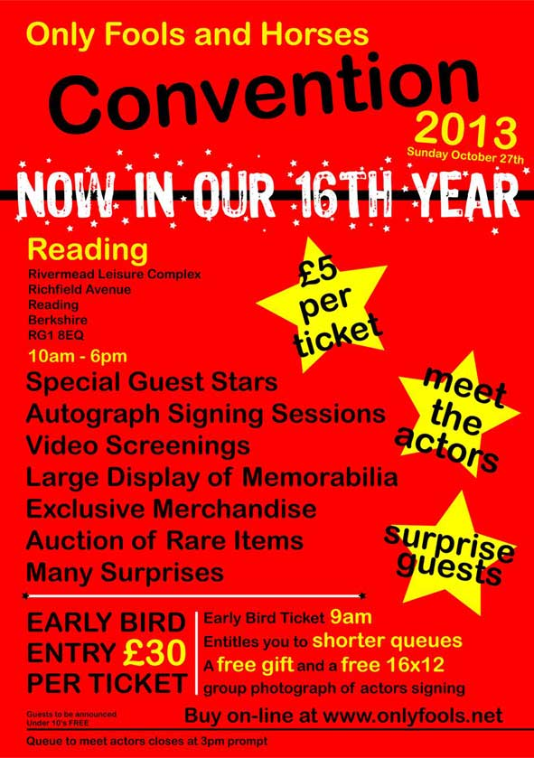 Only Fools and Horses Convention 2013 - FAQ's