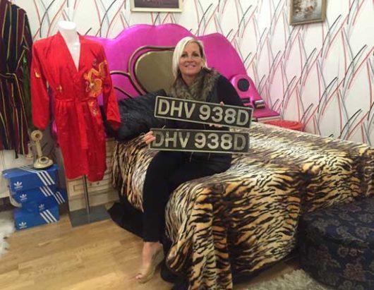 Helen with van plates