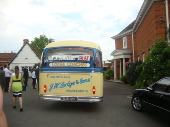 Perry and Stellas wedding bus