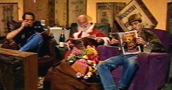 Del and Rodney with Radio Times lost episode