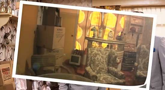 Del Boys Only Fools and Horses flat recreated