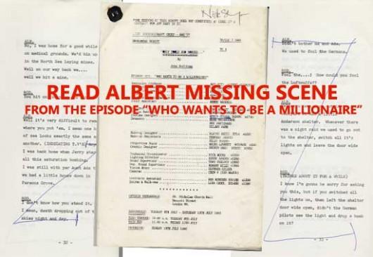 Alberts cut scene in the script