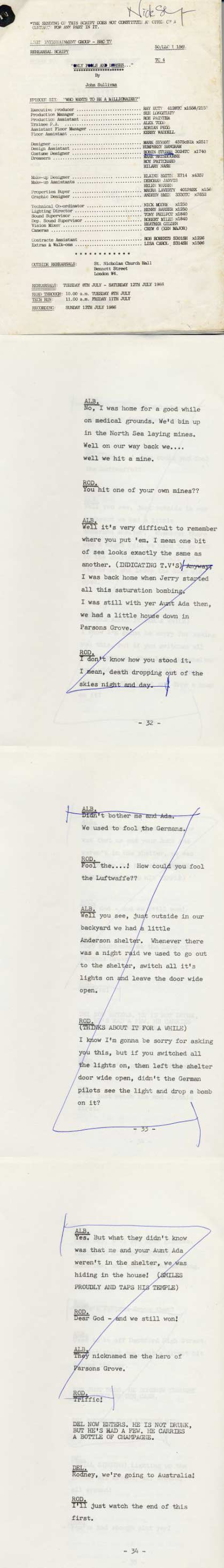 missing only fools script