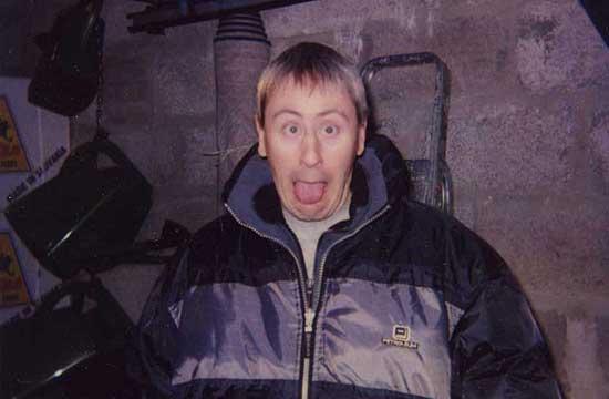 Nicholas Lyndhurst having a laugh