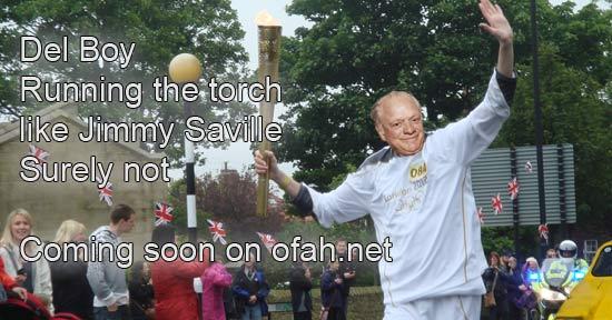 Del Boy Running the Torch