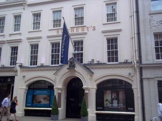 Sotheby auction rooms