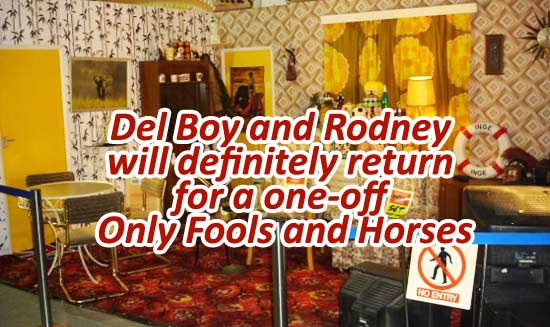 Del Boy and Rodney will definitely return for a one-off Only Fools and Horses sketch for Sport Relief