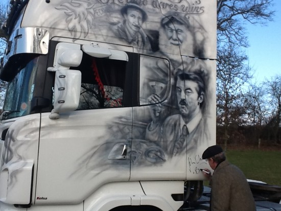 detailed art on the road