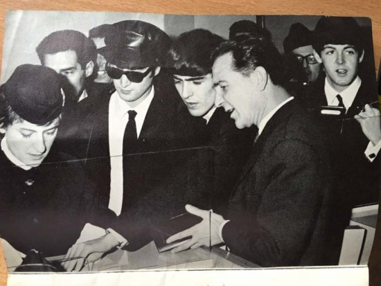 Beatles photo with dad