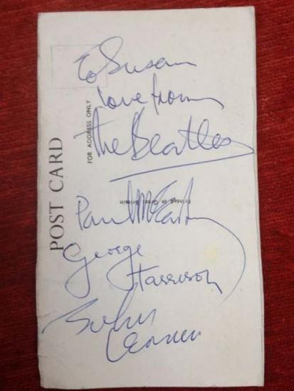 Beatles autographs