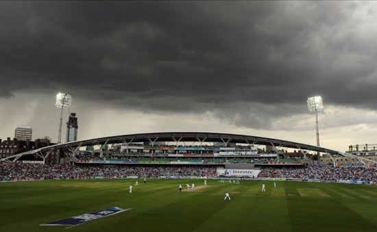 luxurious Oval Cricket ground in London.