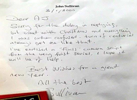 John Sullivan always helpful