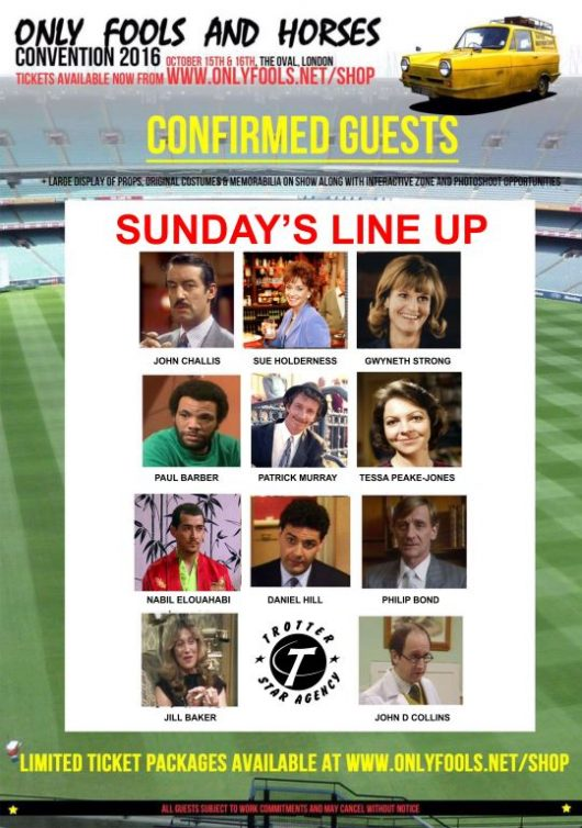 sunday only fools lineup