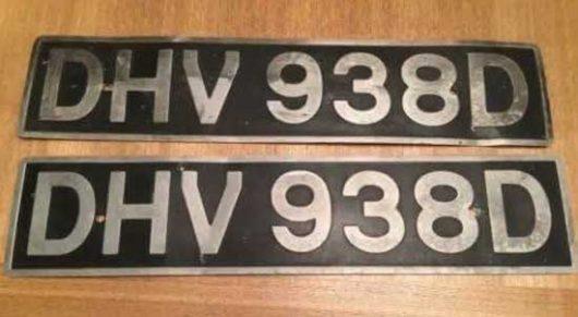 van number plates