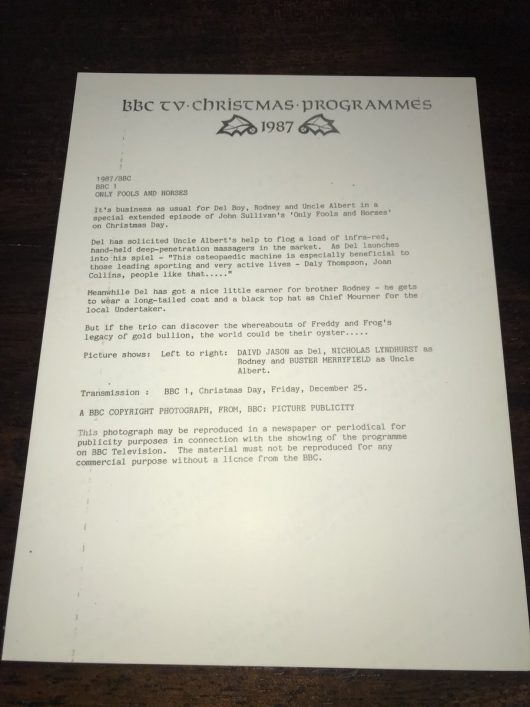 Letter from BBC