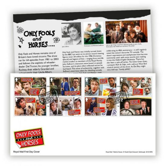 Only Fools And Horses Stamps From the Royal Mail