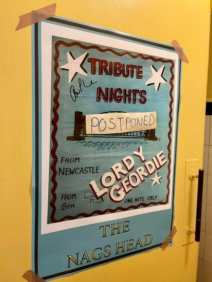 Tribute band at the Nags Head